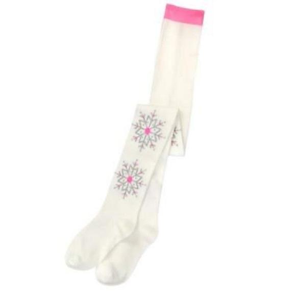 NWT Gymboree Spring Prep White Knee Socks Blue Flowers Sz Small 3-4